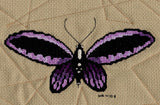 Raspberry Lane Crafts Magic Butterfly Collection Cross Stitch Pattern - purple butterfly - Purple Wingback Butterfly by Wendy Christine