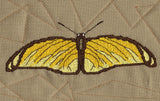 Raspberry Lane Crafts Magic Butterfly Collection Cross Stitch Pattern - yellow butterfly - Yellow Martial Butterfly designed by Wendy Christine