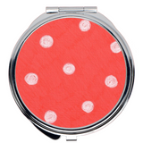 Coral Red Compact Mirrors for Sale at Raspberry Lane Crafts
