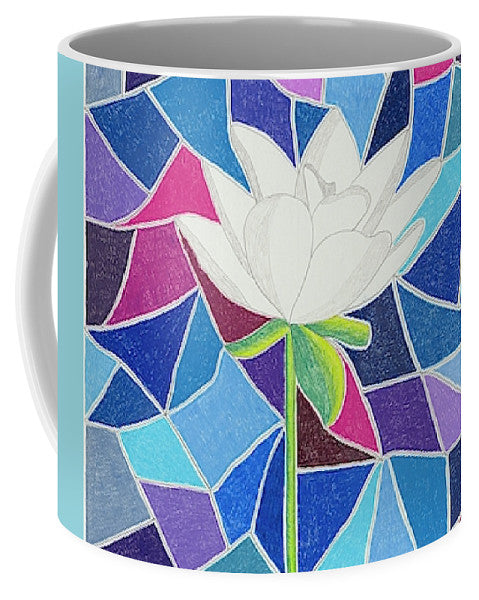 White Lotus with Stained Glass Mug