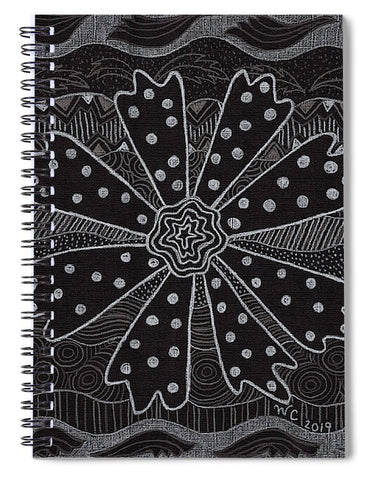 Charcoal Daisy Spiral Notebook