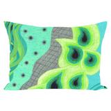 Peacock Accent Pillows for Sale Original Design Blue and Green