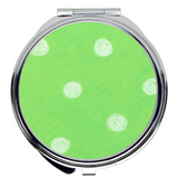 Spotted Green Compact Purse Mirrors for sale by Wendy Christine at Raspberry Lane Crafts