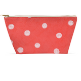 Coral White Dot Zipper Bags for Sale Accessory Pouches by Wendy Christine
