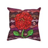 Buy Southwest Red Rose on Dark Red Throw Pillows.  Plum Wine Throw Pillows for Sale at Raspberry Lane Crafts