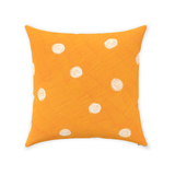Beach Orange Dot Throw Pillows for Sale 14 x 14, 16 x 16, 18 x 18 inches, 12 x 18 inch Buy