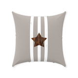 Taupe Star Throw Pillows