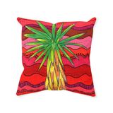 Red Southwest yucca accent pillow for sale
