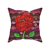Plum Wine Throw Pillows