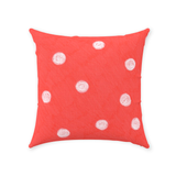 Buy Coral Red Dot Decorative Pillows at Raspberry Lane Crafts