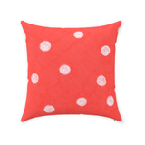Coral Red Dot Throw Pillows for Sale at Raspberry Lane Crafts