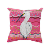 Buy Playful Pink Throw Pillows with Colorful Spots.  Brane Crane by Wendy Christine