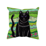 Buy Green Cat Throw Pillows at Raspberry Lane Crafts
