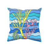 Coral Island Blue Throw Pillow for Sale at Raspberry Lane Crafts