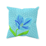 Decorative Blue Flower Pillows for sale at Raspberry Lane Crafts