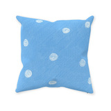 Sea Water Dot Accent Pillows Blue with White Spots for Sale