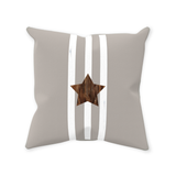 Taupe Star Throw Pillows for Sale at Raspberry Lane Crafts