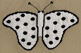 Raspberry Lane Crafts Mardi Gras Butterfly Collection Cross Stitch Pattern: Spotted Butterfly
