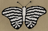 Raspberry Lane Crafts Mardi Gras Butterfly Collection Pattern: Striped Butterfly