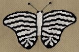 Buy Striped Black and White Butterfly Cross Stitch Pattern
