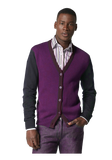 Colorblock Wool Cardigan