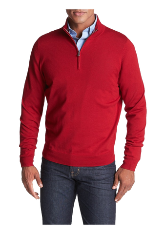 Half Zip Merino Wool Sweater