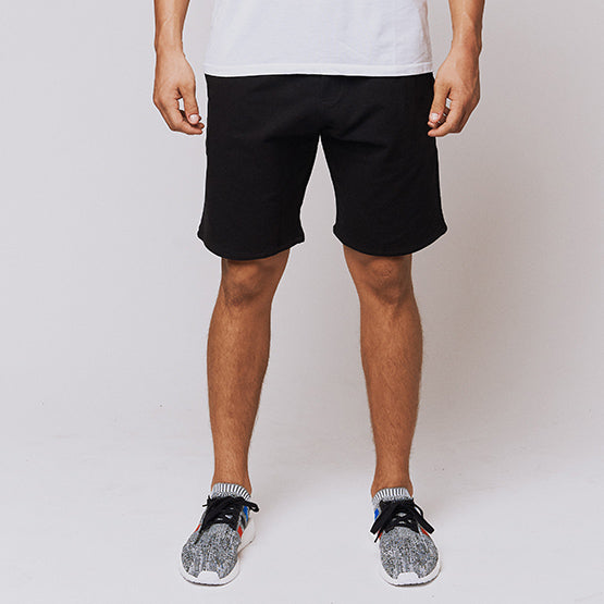 Black Stretch French Terry Short - Sweat Tailor