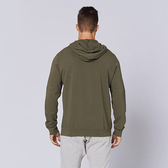 Army Green Stretch Pullover Hoodie