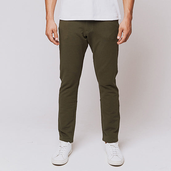 Army Green 5 Pocket Pants - Sweat Tailor