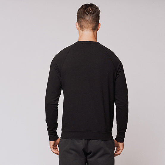 Black Stretch Crewneck Sweatshirt