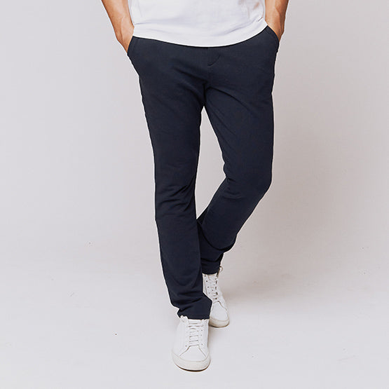 Navy Everywear Stretch Chino Knit Pants - Sweat Tailor