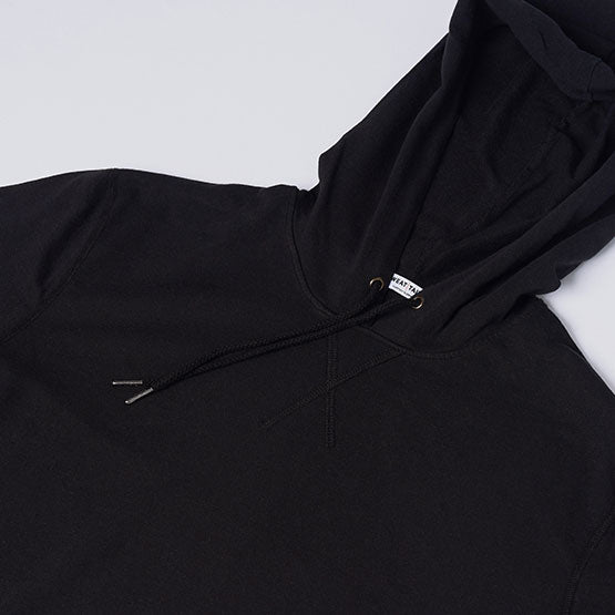 Black Stretch Pullover Hoodie