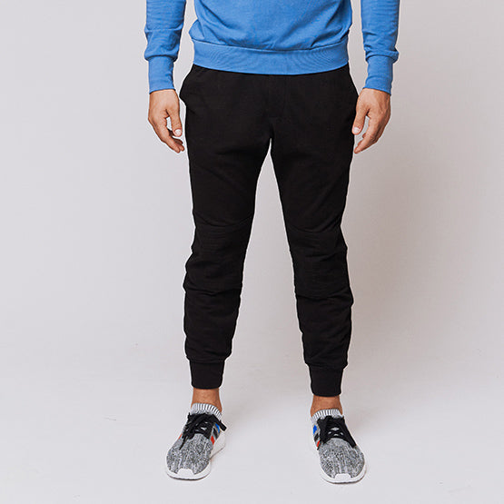 Black Tailored Moto Joggers - Sweat Tailor