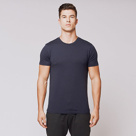 Navy Supima Blend Crew - Sweat Tailor