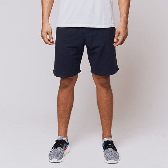 Navy Stretch French Terry Short - Sweat Tailor