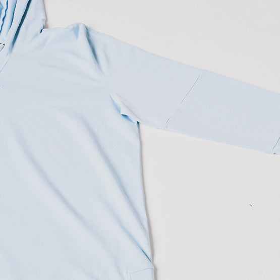Sky Blue Stretch Pullover Hoodie - Sweat Tailor