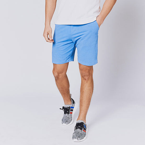 Denim Blue Everywear Stretch Knit Chino Shorts - Sweat Tailor