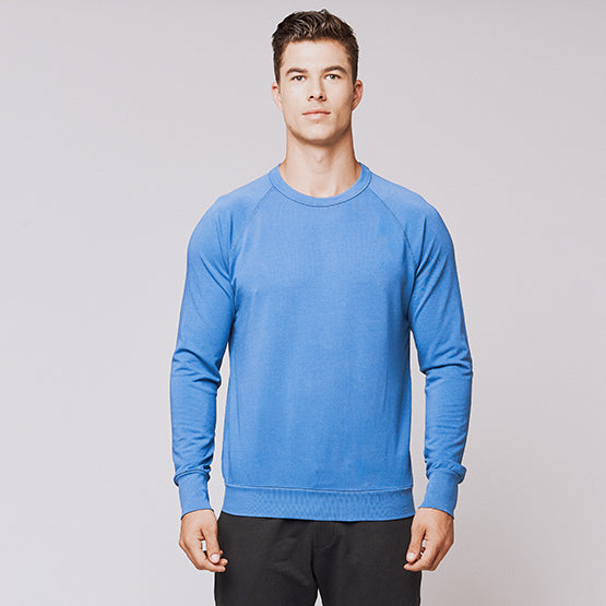 Indigo Blue Stretch Crewneck Sweatshirt - Sweat Tailor