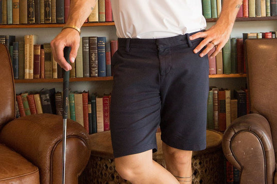 Navy Everywear Stretch Knit Chino Shorts