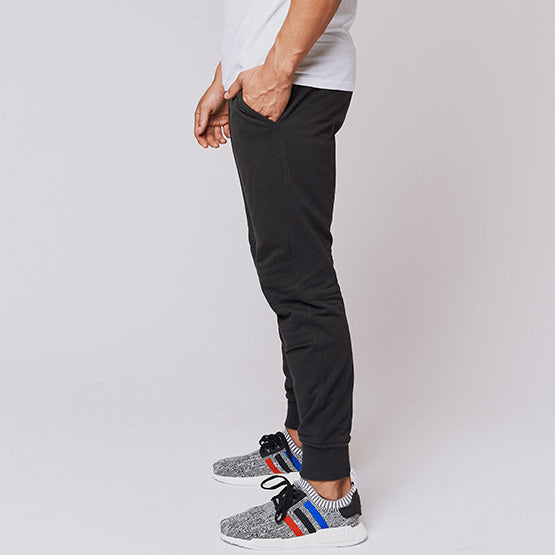 Charcoal Grey Tailored Moto Joggers - Sweat Tailor
