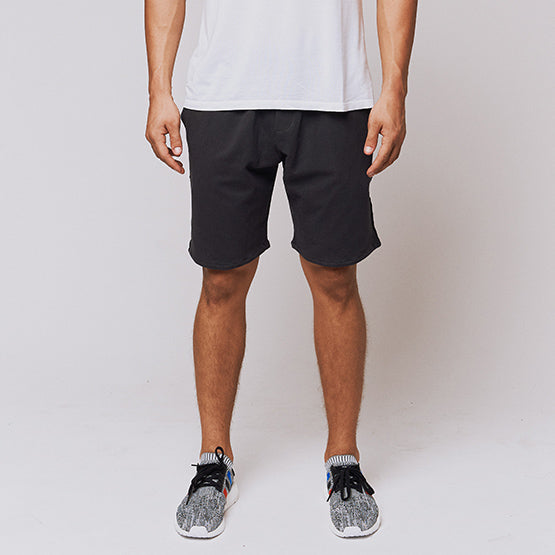 Charcoal Grey Stretch French Terry Short - Sweat Tailor