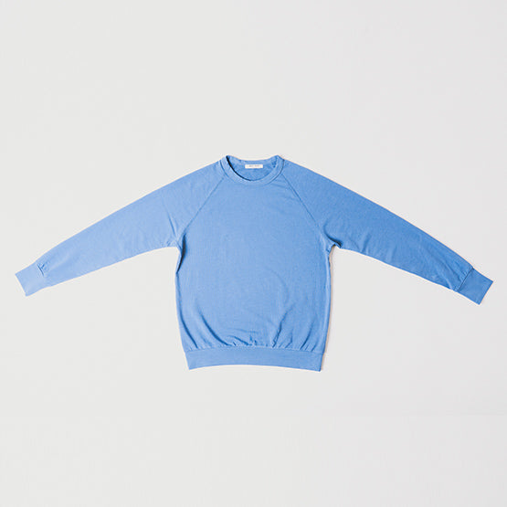Indigo Blue Stretch Crewneck Sweatshirt