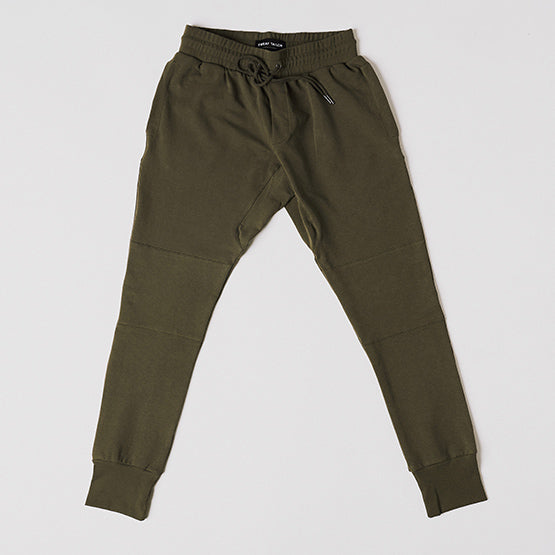 Army Green Stretch Tailored Joggers - Sweat Tailor
