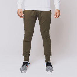 Army Green Stretch Tailored Joggers