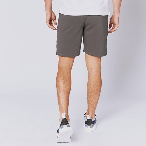 Grey Everywear Stretch Knit Chino Shorts - Sweat Tailor