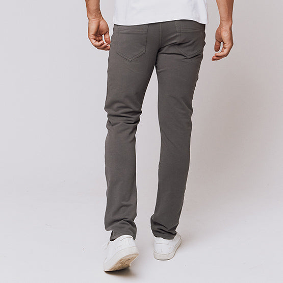 Grey 5 Pocket Pants - Sweat Tailor