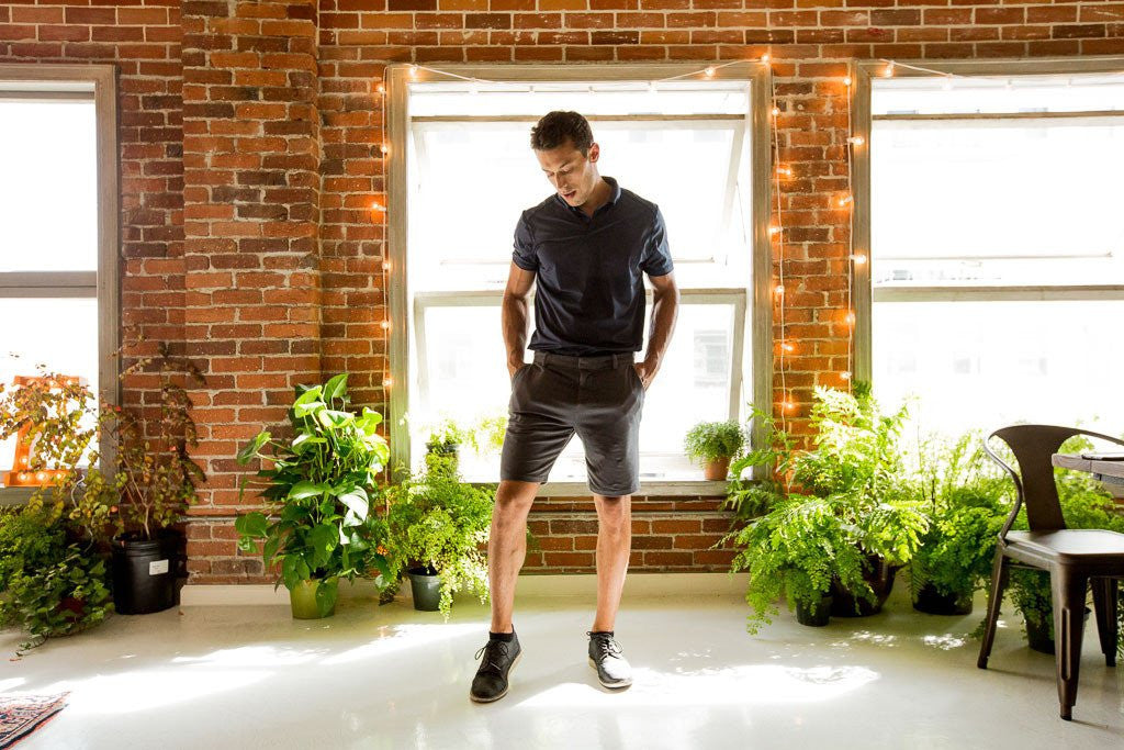 Grey Everywear Stretch Knit Chino Shorts