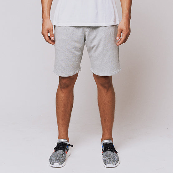 Heather Grey Stretch French Terry Short - Sweat Tailor