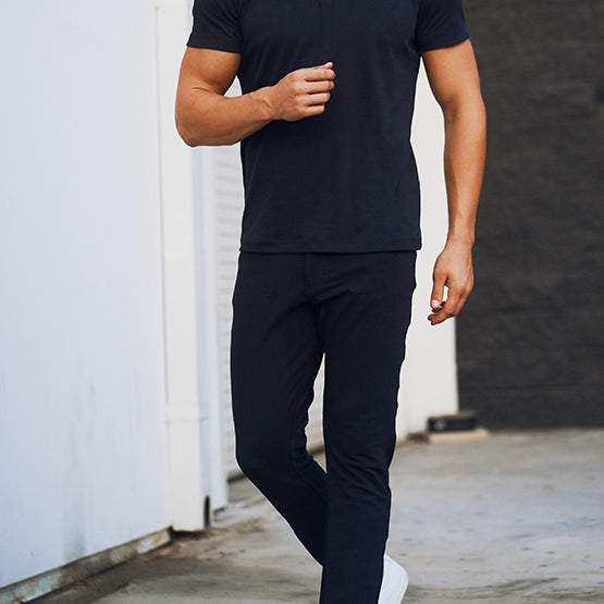 Black 5 Pocket Pants - Sweat Tailor