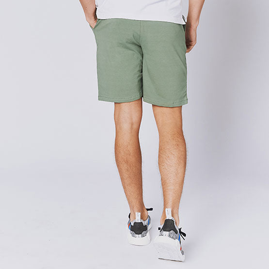 Deep Moss Green Everywear Stretch Knit Chino Shorts - Sweat Tailor